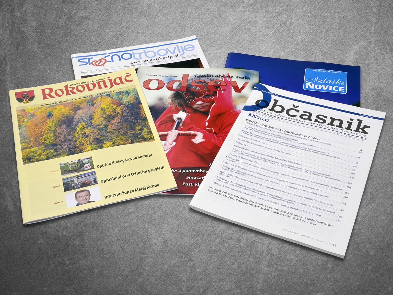 Newspapers, Magazines & Newsletters