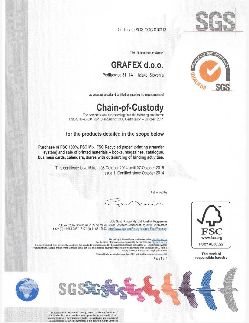 FSC® certifikat v naših rokah