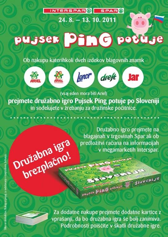 Družabna igra »Pujsek PinG potuje«