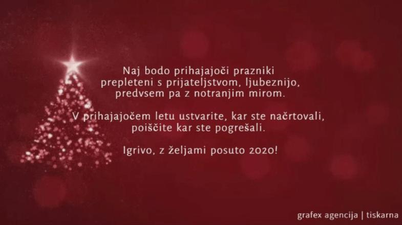 Božično novoletno voščilo 2020 SLO