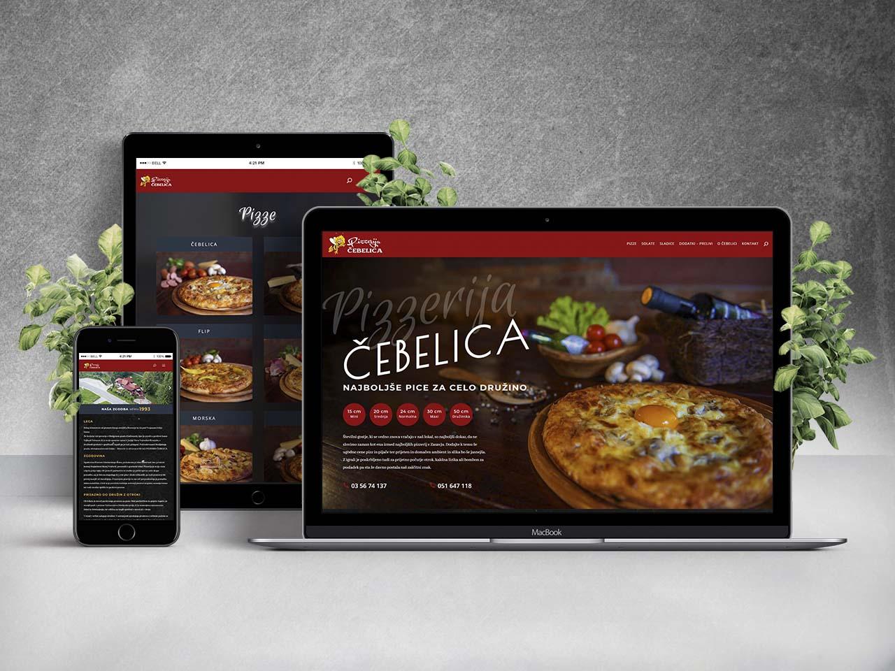 Nova spletna stran Pizzerije Čebelica