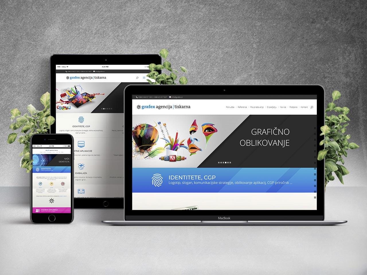 Website - grafex agencija | tiskarna