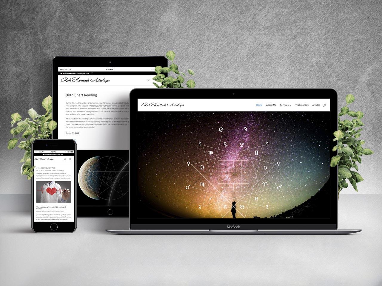 Website - Astrolog Rok Koritnik